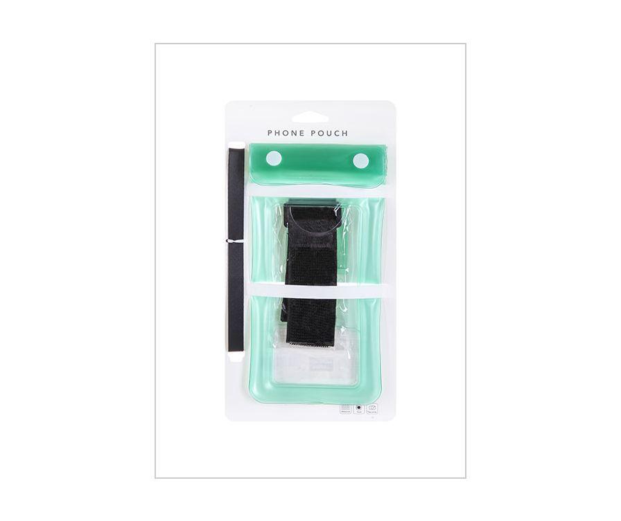 Прозрачный водонепроницаемый чехол для телефона (зеленый)