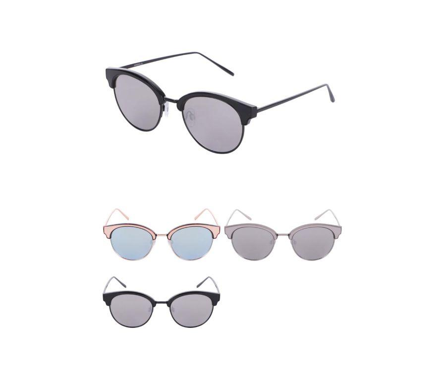 Женские круглые модные солнцезащитные очки