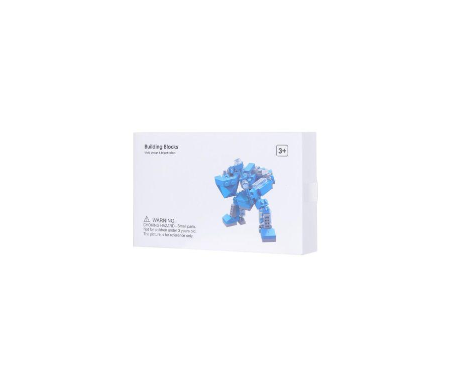 Мини-трансформируемый робот - строительный блок (супергерой)