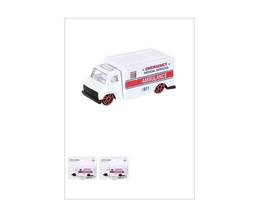 1: 64 Игрушечный автомобиль (Скорая помощь) - 9503