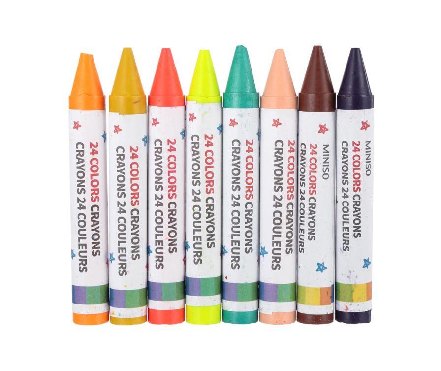 24 цветных карандаша