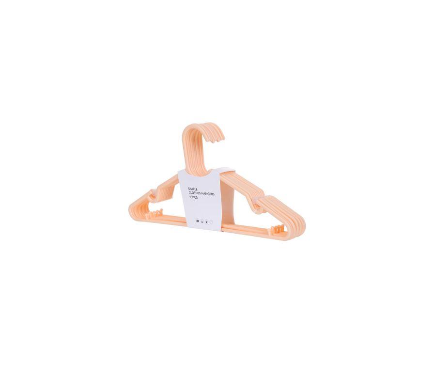 Простая вешалка для одежды 10 шт. (Оранжевый)