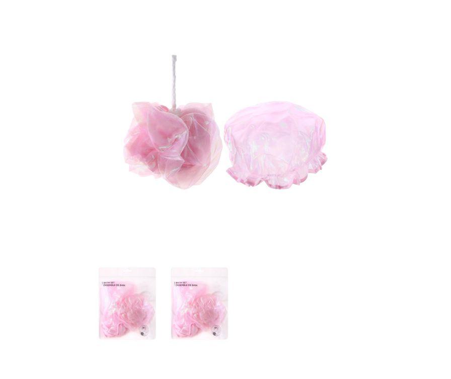 Набор для ванной, розовый