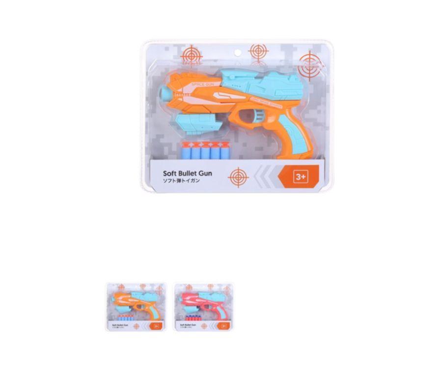 Игрушка пистолет с мягкими пулями
