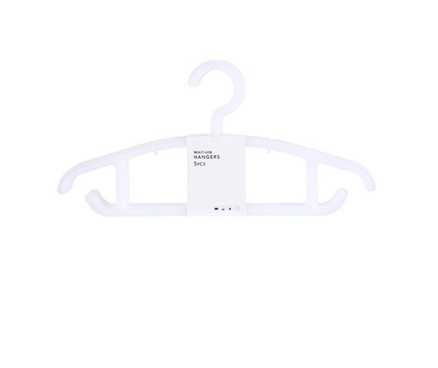 Простые универсальные вешалки для одежды, 5 шт. (белый)