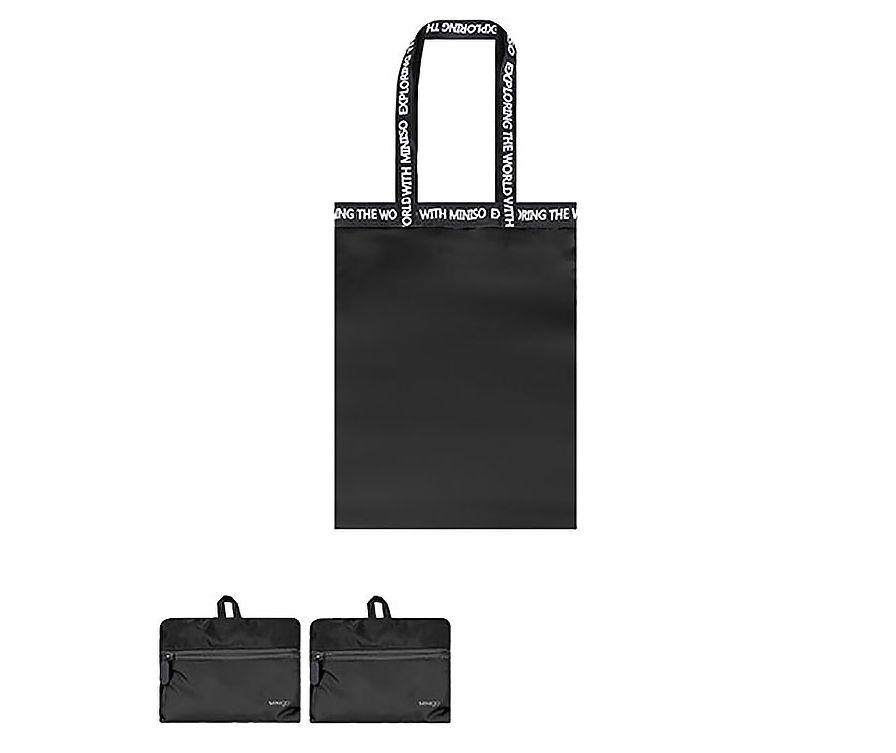 MINIGO Прямоугольная складная сумка на одно плечо (черная)