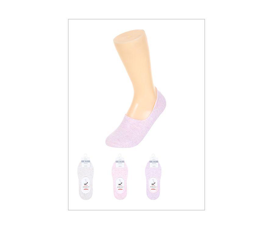 Носки женские (бежевый + светло-розовый + светло-фиолетовый)