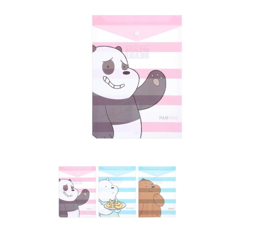Вертикальная папка А4 (2 шт),серия We Bare Bears