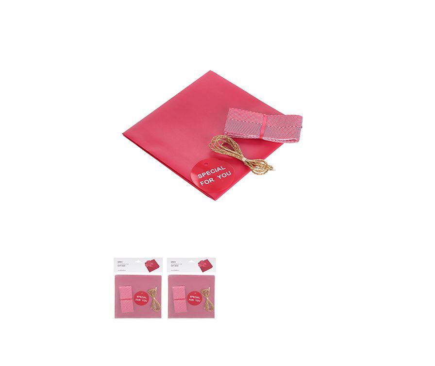 Набор для подарочной упаковки, цвет красный, Лента , Золотая нить, открытка, Оберточная бумага