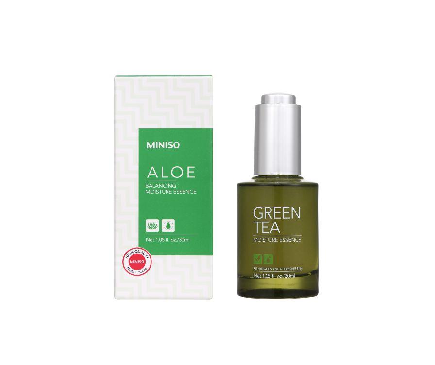 МИНИСО Зеленый чай с расслабляющей увлажняющей эссенцией